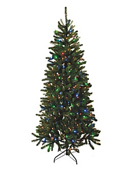 7ft prelit green digital light tree