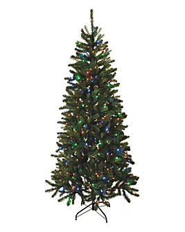6ft prelit green digital light tree