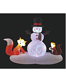 Inflatable Snowman with Animals