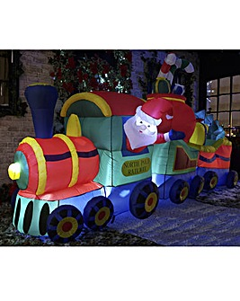 3.6m Lit Inflatable Train