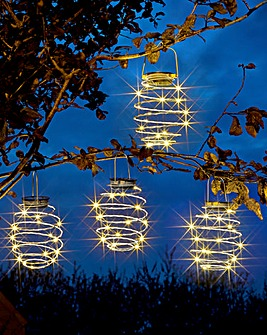 Smart Garden Set of 4 Solar Spiralights