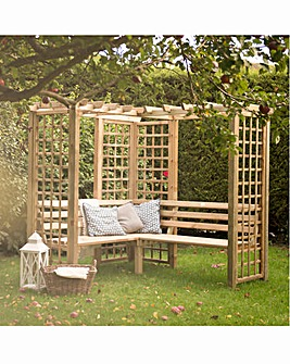 Forest Three Seat Corner Arbour