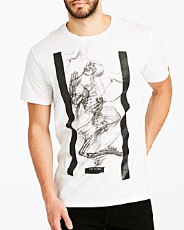 Religion White Smokey Skeleton T-Shirt Long