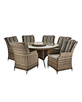 Florida 6 Seater Circular Dining Set