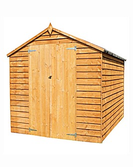 Mercia 8x6 Overlap Shed with Double Door