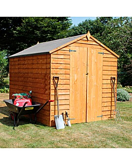 Mercia 8x6 Overlap Value Shed with Double Doors