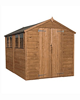Mercia 10x6 Pressure Treated Shiplap Apex Shed with Double Doors