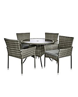 Cadiz 4 Seater Circular Dining Set