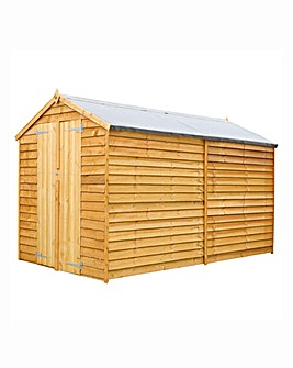 Mercia 10x6 Overlap Shed with Double Doo