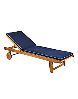 Georgia Wooden Sunlounger with Cushion