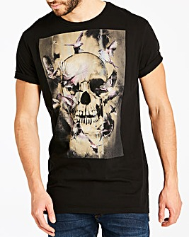 Religion Black Canary Skull T-Shirt L