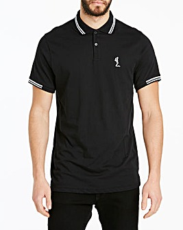 Religion Black Easton Tipped Polo Long