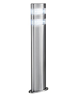 Satin Silver Outdoor LED Post Light