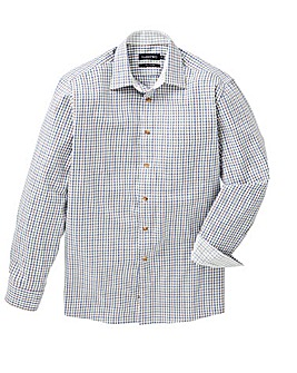 Double Two L/S Cotton Check Shirt R