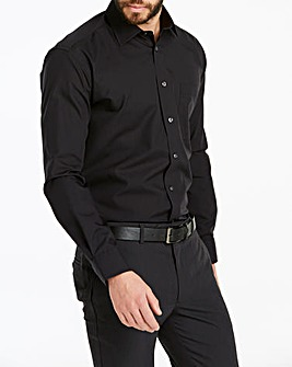 Double Two Black Long Sleeve Crease Resistant Shirt Regular