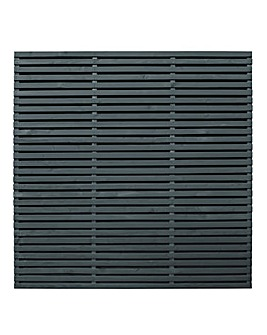 Forest Double Slatted Fence Panel Pack 3