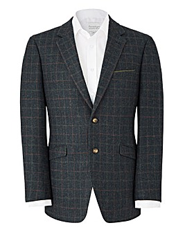 Brook Taverner Navy Check Blazer R