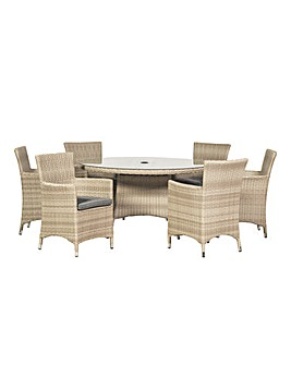 Lisbon 6 Seater Round Dining Set
