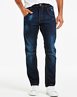 Crosshatch Dark Denim Stretch Jeans 29In