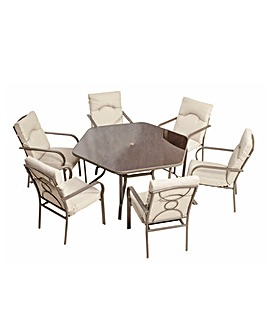 Amalfi 6 Seater Dining Set
