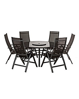 Sorrento 6 Seater Reclining Set Set