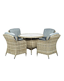 Wentworth 4 Seater Imperial Dining Set