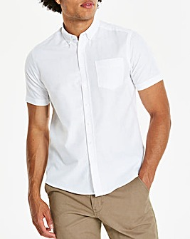 White Short Sleeve Oxford Shirt Regular