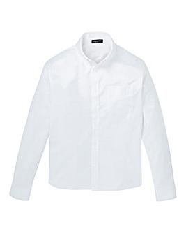 White Long Sleeve Oxford Shirt Long