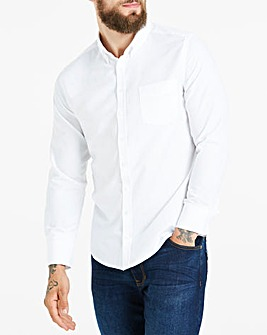 White Long Sleeve Oxford Shirt Regular