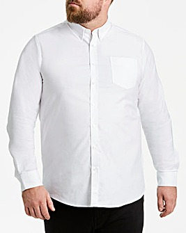 White Long Sleeve Oxford Shirt Long