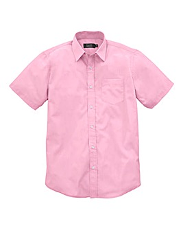W&B London Pink S/S Formal Shirt L
