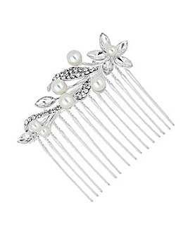 Jon Richard Navette Flower Hair Comb