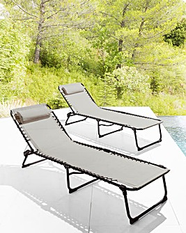 Pair of Zero Gravity Sunlounger