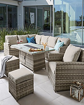 Lucca Corner Set with Firepit Table