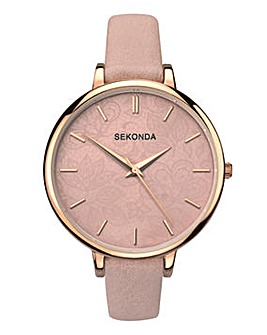 Sekonda Pink Textured Dial Watch