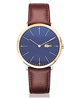 Lacoste Gents Moon Brown Strap Watch