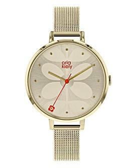 Orla Kiely Ladies Ivy Mesh Watch