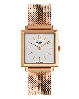 Henry London Ladies Square Mesh Watch