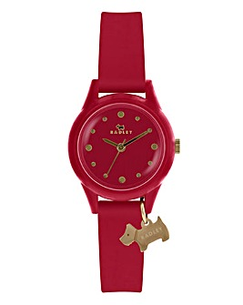 Radley Ladies Silicon Strap Watch - Red