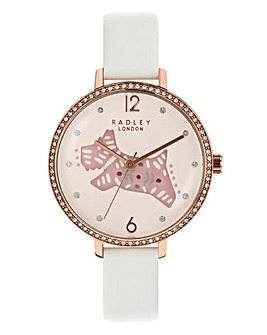 Radley Ladies Folk Dog Watch - White