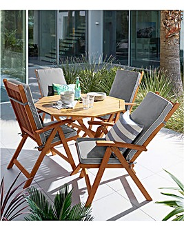 Georgia 4 Seater Dining Set with Armchairs