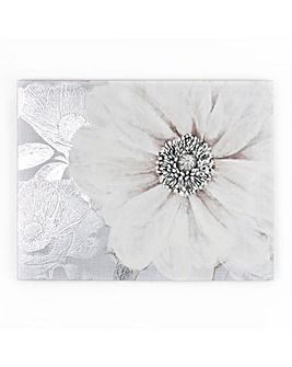 Art for the Home Grey Bloom Floral Printed Canvas