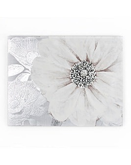 Grey Bloom with Foil  Wall Art