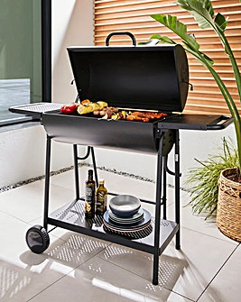 Double Oil Drum Charcoal BBQ