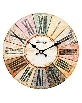 Hometime Multi Colour Wall Clock