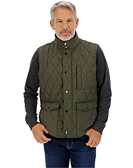 Olive Quilted Gilet