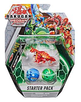 Bakugan Starter 3-Pack Nillious Ultra Geogan Rising Collectible Action Figures