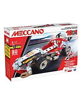 Meccano 10-in-1 Racing Vehicles STEM Model Building Kit