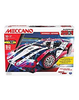 Meccano 25-in-1 Motorized Supercar Model Building Kit