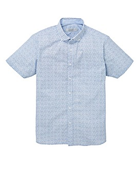 W&B Blue Design Short Sleeve Shirt R